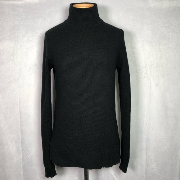 Equipment Black Turtleneck Long Sleeve Sweater
